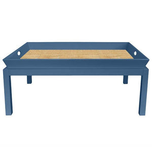 Rowayton Lacquer Coffee Table - Blue (Additional Colors Available)