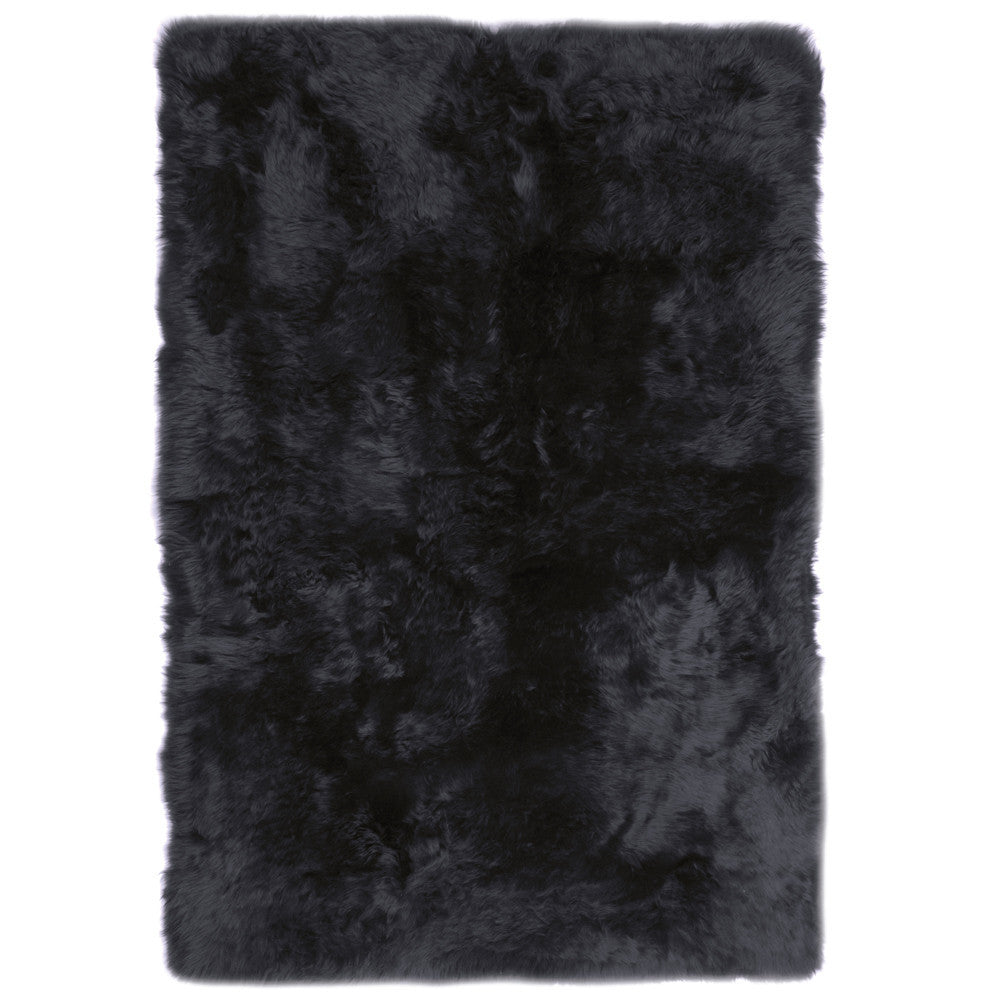 rugs black premium sheepskin rug in 4 sizes