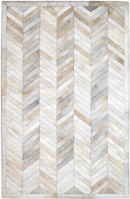 Rugs - Chevron Hide Rug - Cream