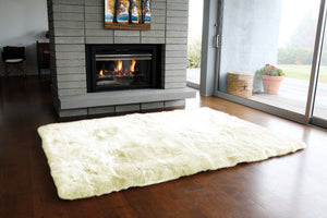 Rugs - Ivory Straight-Edge Premium Sheepskin Rug - In 4 Sizes