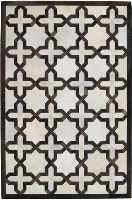 Rugs - Kaleidoscope Hide Rug - Cream & Brown