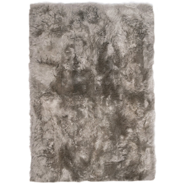 Rugs - Light Grey Straight-Edge Premium Sheepskin Rug - In 4 Sizes