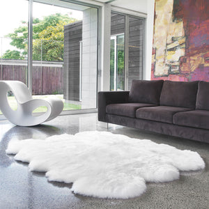 Rugs - Luxe Black Premium Sheepskin Rug - In 6 Sizes