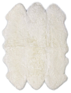 Rugs - Luxe Ivory Premium Sheepskin Rug - In 6 Sizes