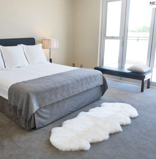 Luxe Light Grey Premium Sheepskin Rug In 6 Sizes