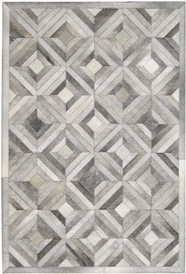 Rugs - Patchwork Hide Rug - Grey