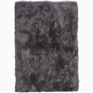 Rugs - Steel Grey Straight-Edge Premium Sheepskin Rug - In 4 Sizes