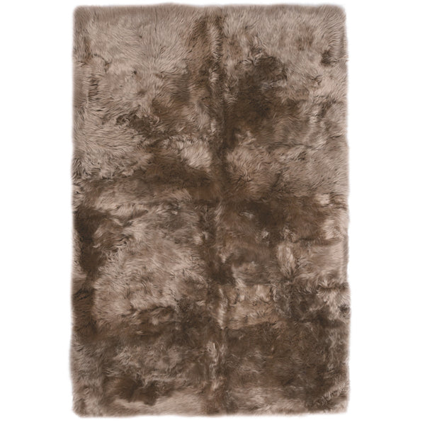 Rugs - Taupe Straight-Edge Premium Sheepskin Rug - In 4 Sizes