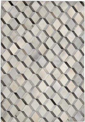 Rugs - Trellis Hide Rug - Grey & Cream