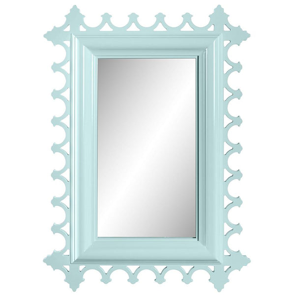 Tini Newport Decorative Lacquer Mirror – Ocean Blue (19 Colors Available)
