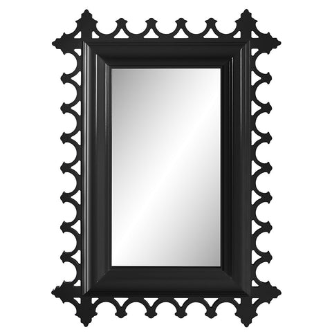 Tini Newport Decorative Lacquer Mirror – Black (16 Colors Available)