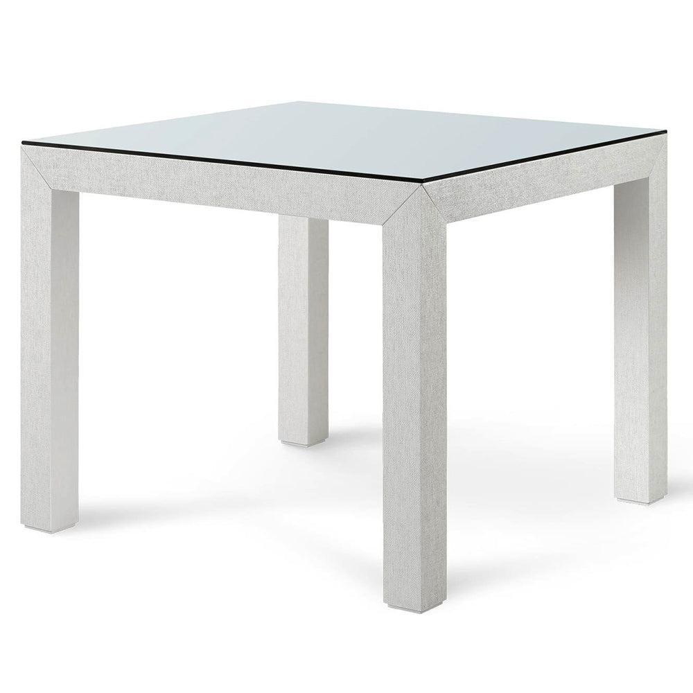 Bungalow 5 Lacquered Grasscloth Game Table – White