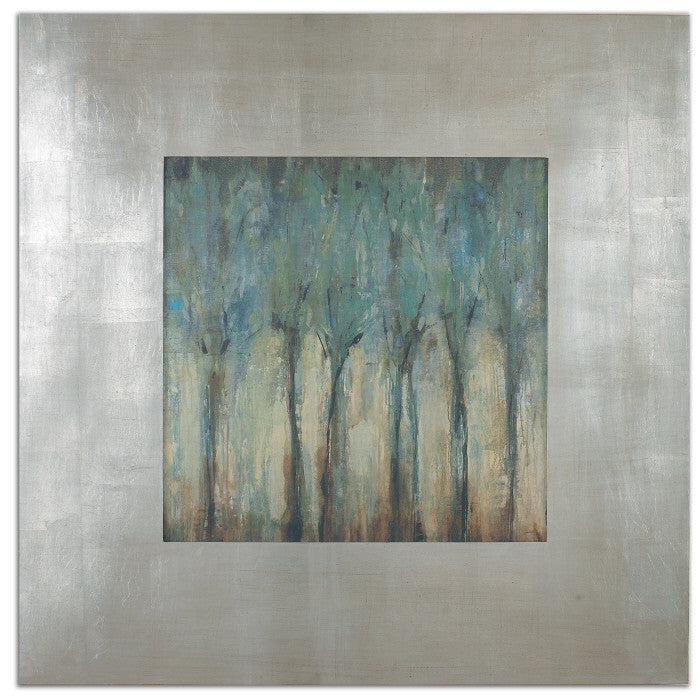 Wall Art - Blue Trees Framed Wall Art Painting