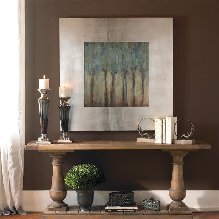 Blue Trees Framed Wall Art Painting