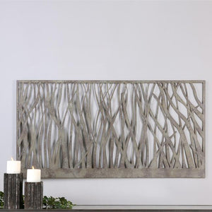 Wall Art - Prairie Metal Wall Art — Green & Grey