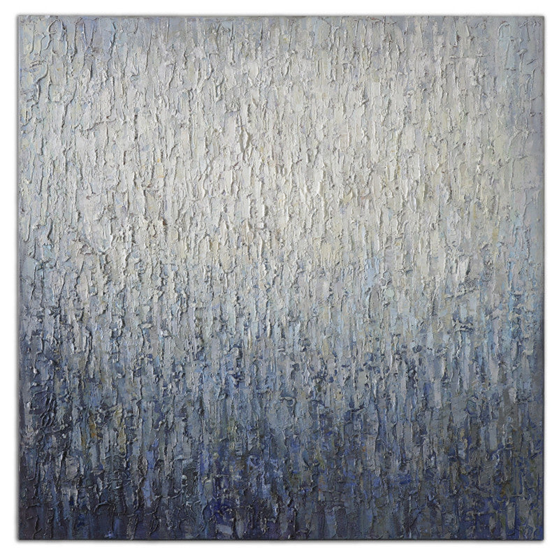 Textured Abstract Painting Wall Art Blue Grey