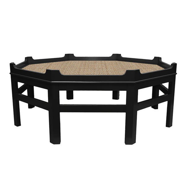 Westport Octagon Lacquer Coffee Table – Black (16 colors available)