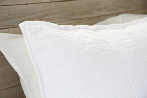 POM POM AT HOME NANTUCKET MATELASSE COLLECTION -WHITE