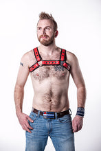 Load image into Gallery viewer, Double Fold Leather Bulldog Harness