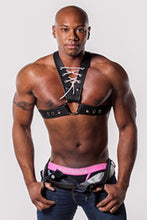 Load image into Gallery viewer, Jock Leather Harness with Lacing