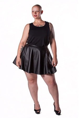 Leather 3/4 Circle Skirt