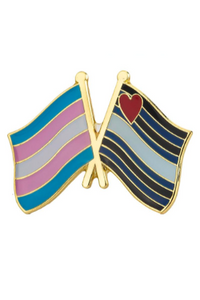 Trans Pride Flag and Leather Pride Flag Pin