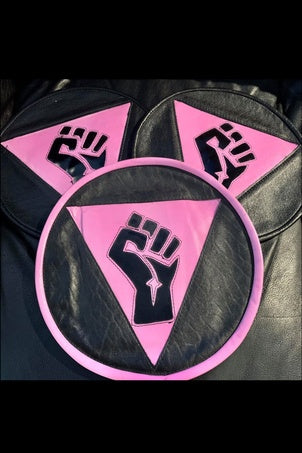 Resist Fist Queer Leather Back Patch