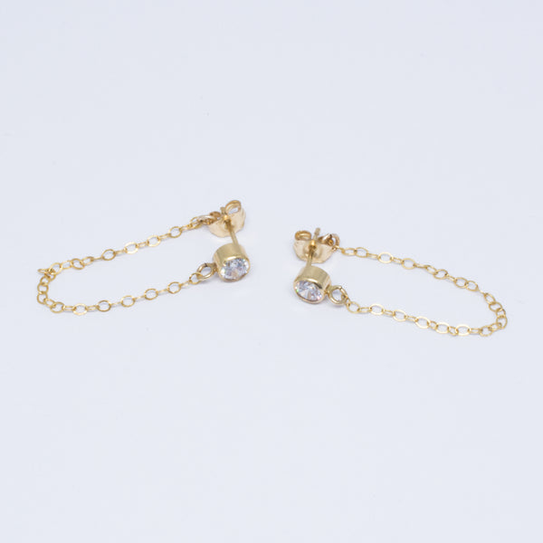 Crystal Chained Earring