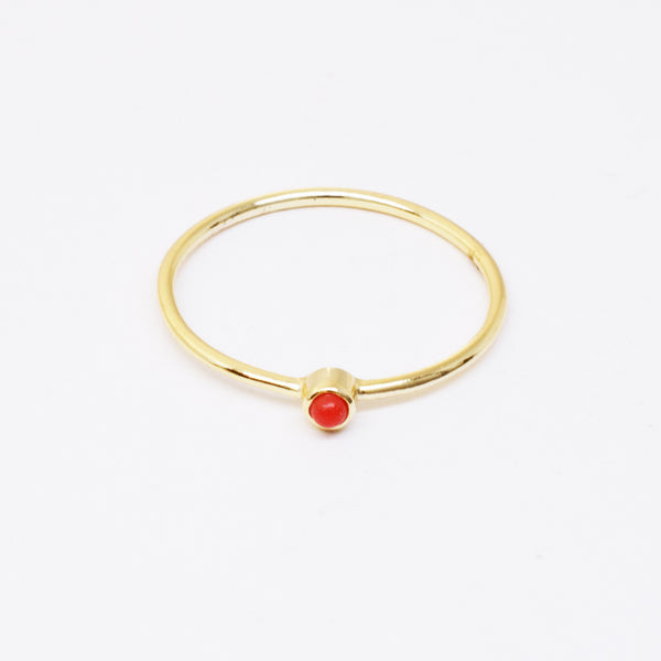 Stackable Coral Ring