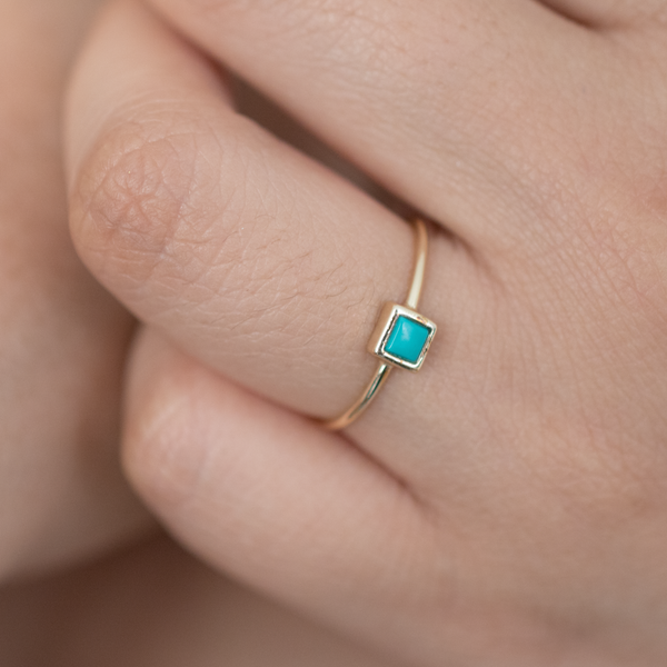 Squared Turquoise Ring