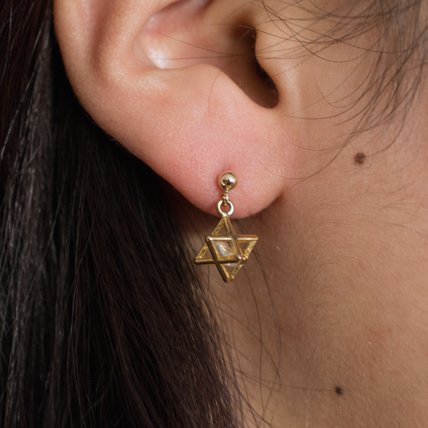 3D Star Earrings