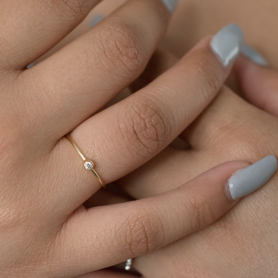Skinny Stackable Gold Ring