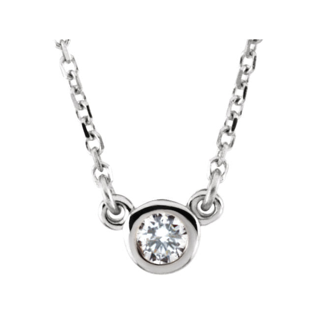 14K Yellow 1/10 CTW Diamond Necklace