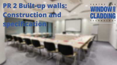PR2 Built up walls: Construction and specification- Enrolment not yet open.