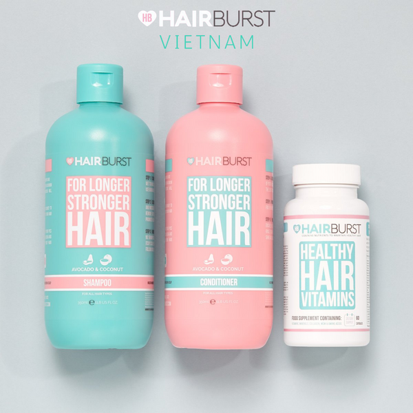 COMBO SET GỘI XẢ VÀ VIÊN UỐNG VITAMIN HAIRBURST | HAIRBURST HEALTHY HAIR VITAMINS AND SHAMPOO & CONDITIONER BUNDLE