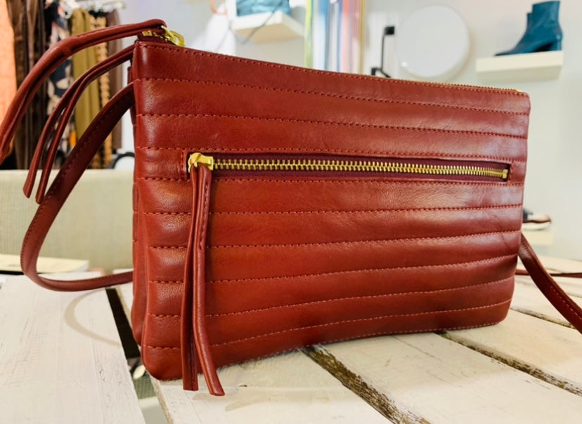 Quilted Leather Double Clutch
