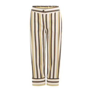 Cropped trouser with stripe