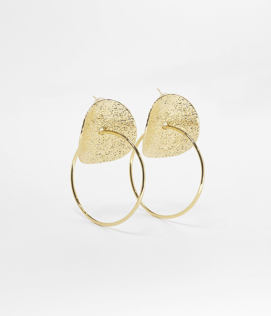 Gold Pringle Earrings