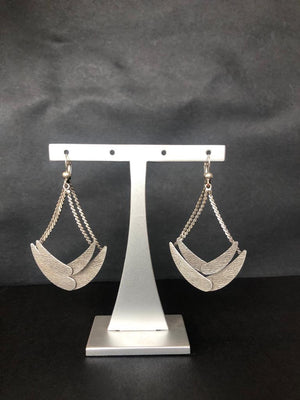 Rock the boat silver earrings