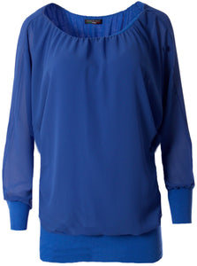 "Shirt "" Uni "" royal blau"