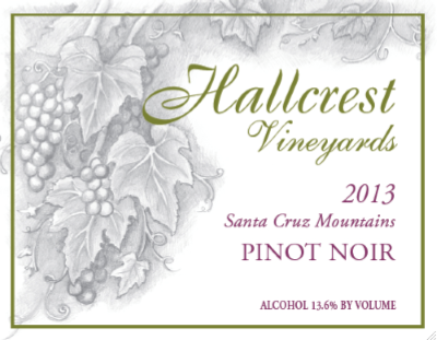 Hallcrest Vineyards Pinot Noir - San Francisco Wine Chronicle Gold