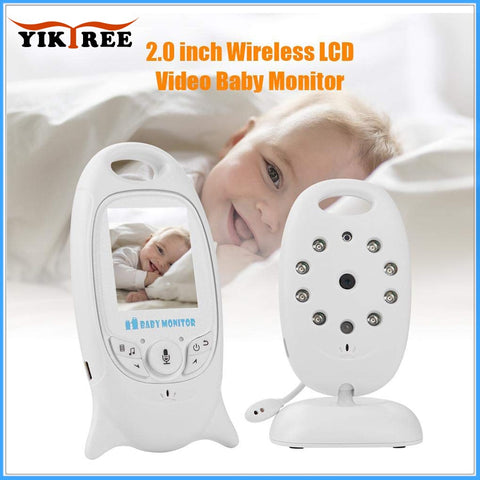 wireless video baby monitor 2 way night vision  temperature monitoring - Click for tech