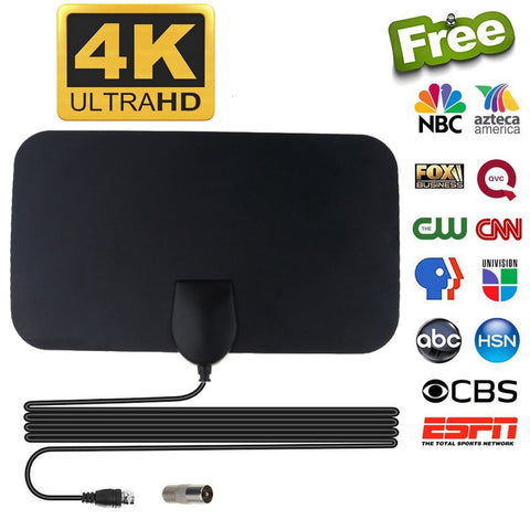 Digital HD TV Antenna Flat Design - Click for tech