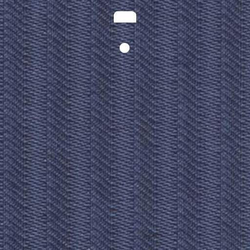 "3 1/2"" Fabric Vertical Blind Channel Panel Insert (Dijon Real Navy)"