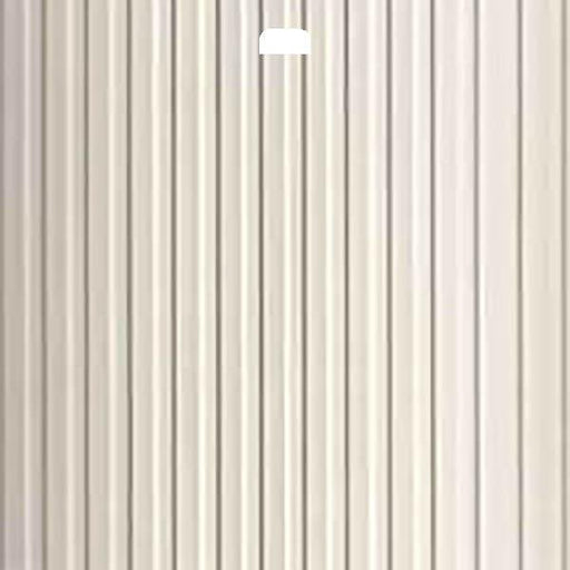 "3 1/2"" Vertical Blind Replacement Slat (Ribbed Ivory)"