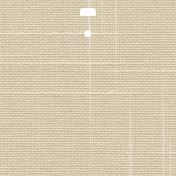 "3 1/2"" Fabric Vertical Blind Channel Panel Insert (Toulon Ivory)"