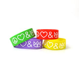 Peace, Love and The Cat Empire Coloured Wristbands