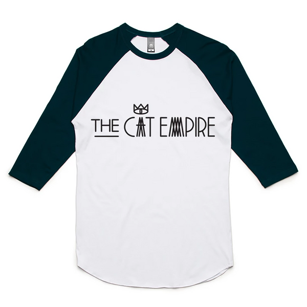 Unisex Black & White 3/4 Sleeve Baseball T-shirt