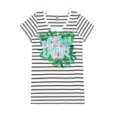 Ladies Striped Tropical T-Shirt