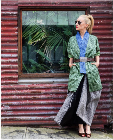 Layered kimono styling via The Estelle report